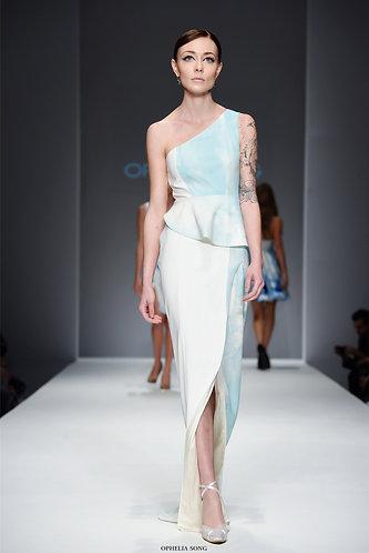 OCEAN light blue elegant long gown