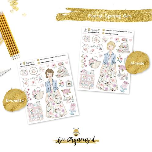 Floral Spring Girl   Deko-Kit
