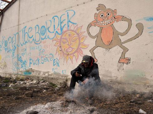 Srbsko - Šid - uprchlický squat Grafosrem