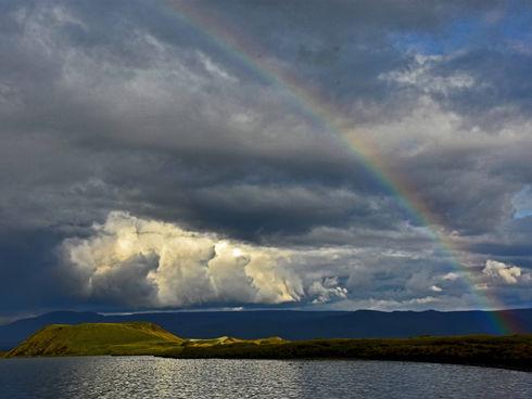 Island - jezero Mývatn