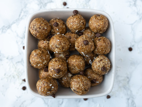 Totally Moreish Peanut butter, Choc Chip Protein Balls!