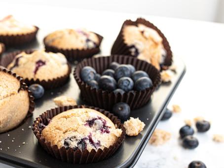 Super Soft, Juicy Gluten Free Cinnamon Blueberry Muffins