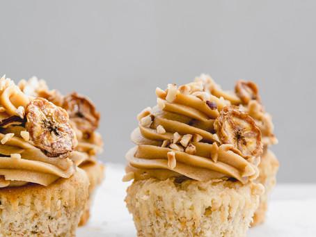 Gluten-Free Salted Caramel Banana  Cupcakes