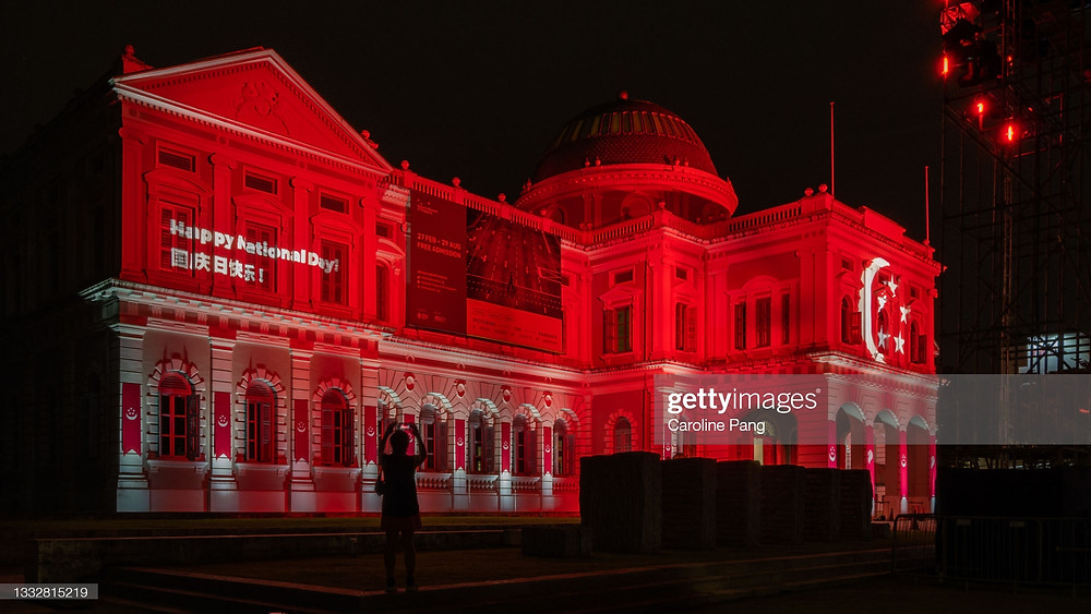 National Day light up at the Singapore National Museum.