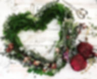 Valentine's Day Greenery and Floral Heart Wreath