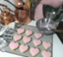 Pink Valentine's Day heart cookies - Nigella