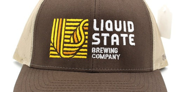 Cap, Brown/Khaki (Yellow Logo)