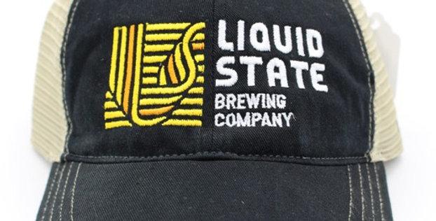 Cap, Black/Khaki (Yellow Logo)