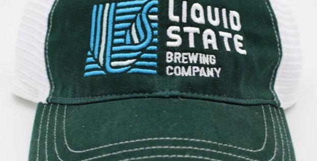 Cap, Dark Green/White (Blue Logo)