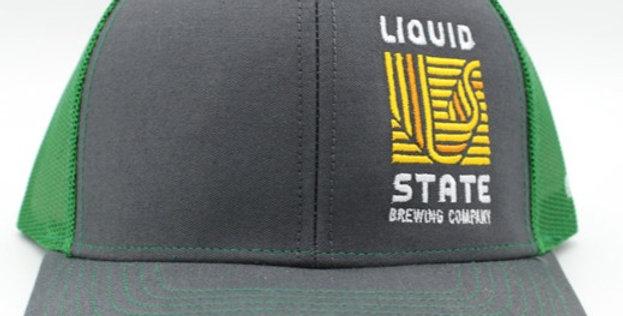 Cap, Charcoal/Kelly Green (Yellow Logo)