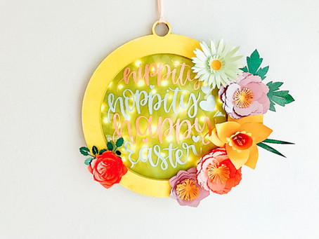 Cricut Chipboard Easter Wreath