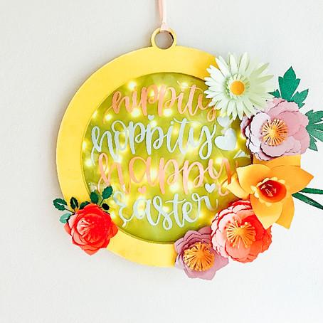 Cricut Chipboard Easter Wreath