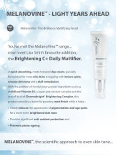 MelanoVine™ Brightening C + Daily Mattifier  50ml