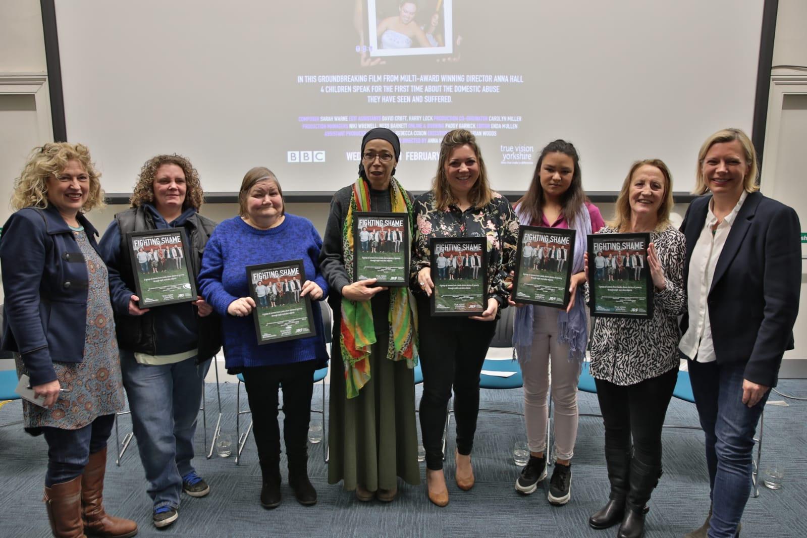 From left to right: Anna Hall, Sarah, Christine, Amina Senior, Sally Odgen, Amina Junior, Mary, Abigail Scott Paul