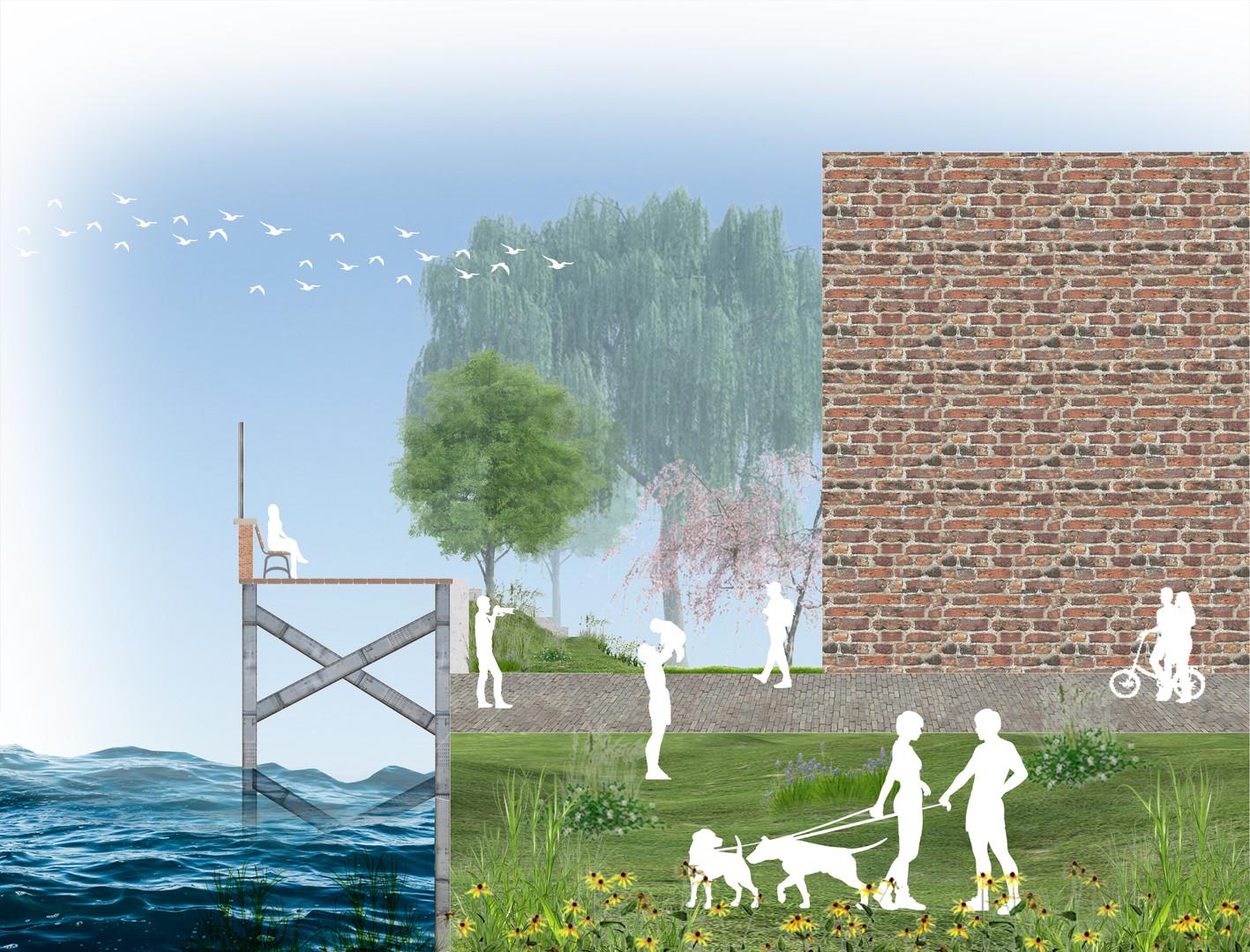 Elevated Flood Plan for Ellis Island