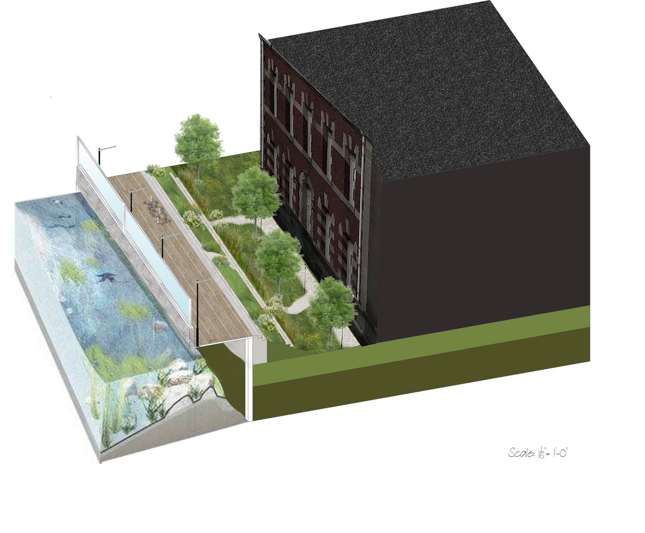 Ellis Island Elevation Rendering 2
