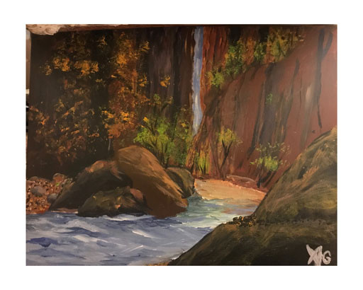 095-River-in-the-canyon-Acrylic-on-canva