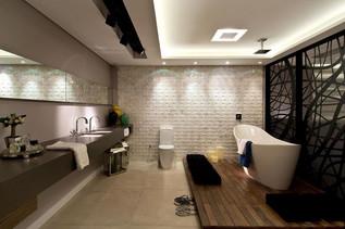 Banheiros Simples podem Guardar Bons Segredos de Decoração