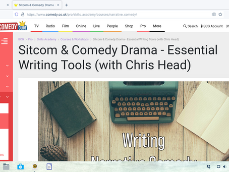 My online Sitcom/ Comedy Drama courses