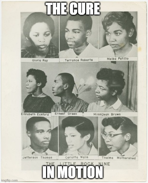Combination photograph of portraits of the Little Rock Nine