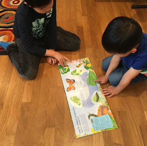 Orion Montessori - Kids reading.