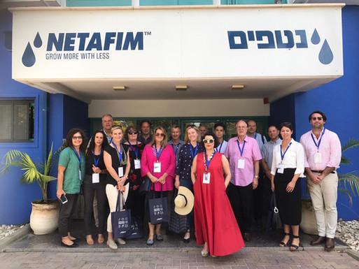 AICC (SA) Delegation led by The Hon David Pisoni MP, Minister for Innovation and Skills, Government of South Australia visit Netafim, the inventor of drip irrigation