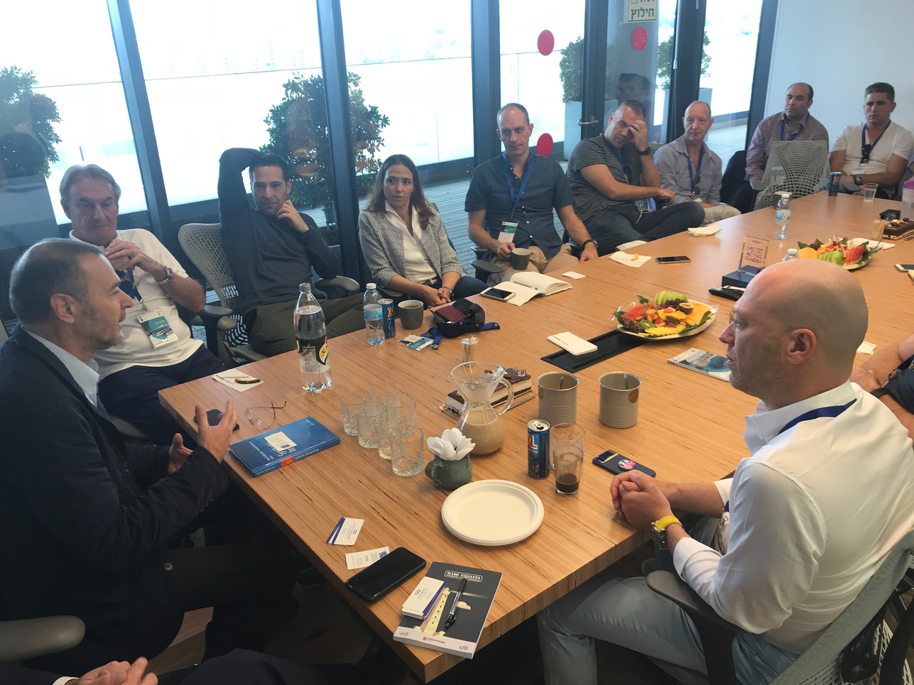Marius Nacht, Founder- aMoon meets CVS Lane delegation led by Josh Liberman