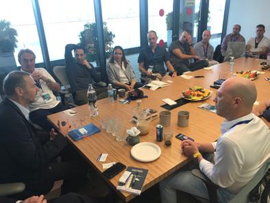 Marius Nacht, Founder- aMoon meets CVS Lane delegation led by Josh Liberman