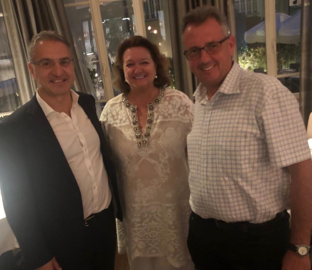 Spiro Pappas, Chairman- Atlas Iron, Gina Rinehart, Chairman- Hancock Prospecting & Paul Israel- IACC