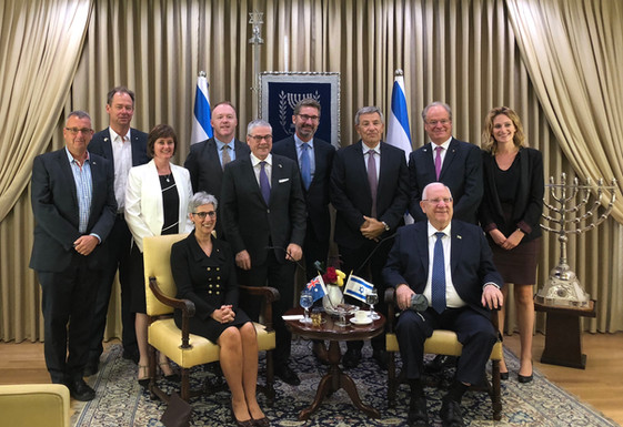 Victorian Governor The Hon Linda Dessau AC with Israel's President Reuven Rivlin