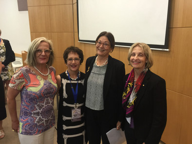 Inaugural AICC Women Leaders Delegation- Lucy Turnbull, The Hon Dr (Former Federal Court Judge) Annabelle Bennett, Israel's Chief Justice Esther Hayut & AICC (NSW) President- Jillian Segal AO