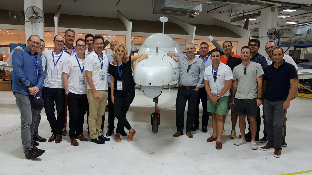 Investors Delegation, co-led by Rafi Lamm- L1 & Stephen Silver- Hunter Capital @ Aeronautics an innovative unmanned aerial systems developer