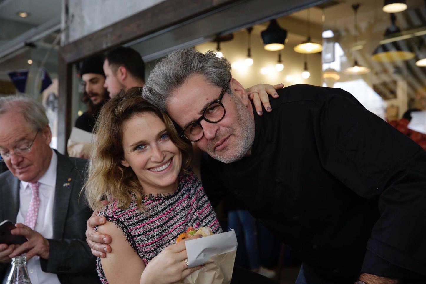 Amanda Joske- IACC with Masterchef Judge Eyal Shani and owner of numerous restaurants including Miznon