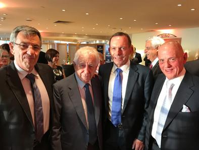 Major General Ido Nehushtan, Sir Frank Lowy AC, Former PM Tony Abbott and Solomon Lew