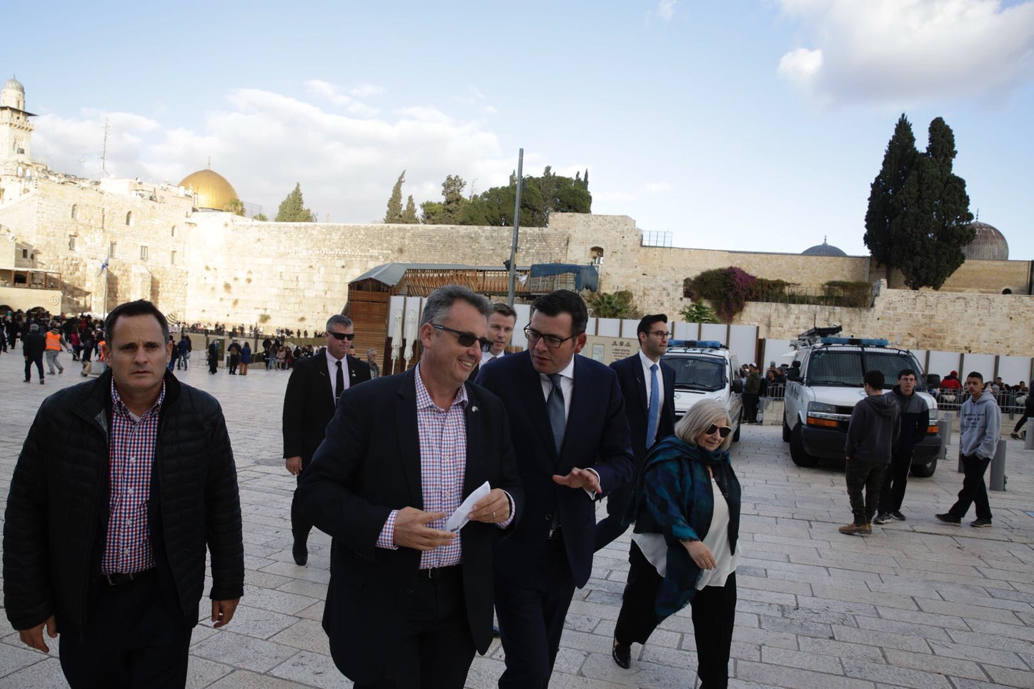Victorian Premier Daniel Andrews at the (Kotel) Western Wall