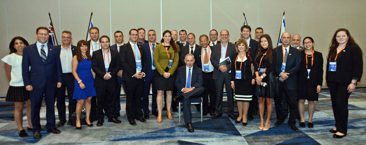 Prime Minister Binyamin Netanyahu with Israeli Trade Delegation on the first ever visit to Australia by an Israeli PM