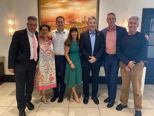 IACC meets AICC CEOs- Rilka Warbanoff (SA), Marcus Mandie (VIC), Michelle Blum (NSW), Simon White (QLD) & John Cluer (WA)