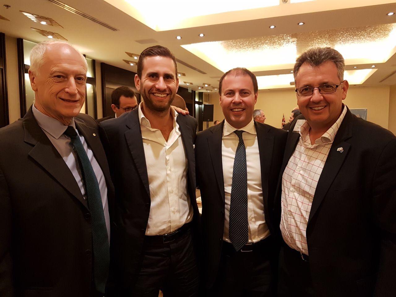 Leon Kempler AM- AICC, Andrew Danos- James Richardson, The Hon Josh Frydenberg MP, Paul Israel- IACC