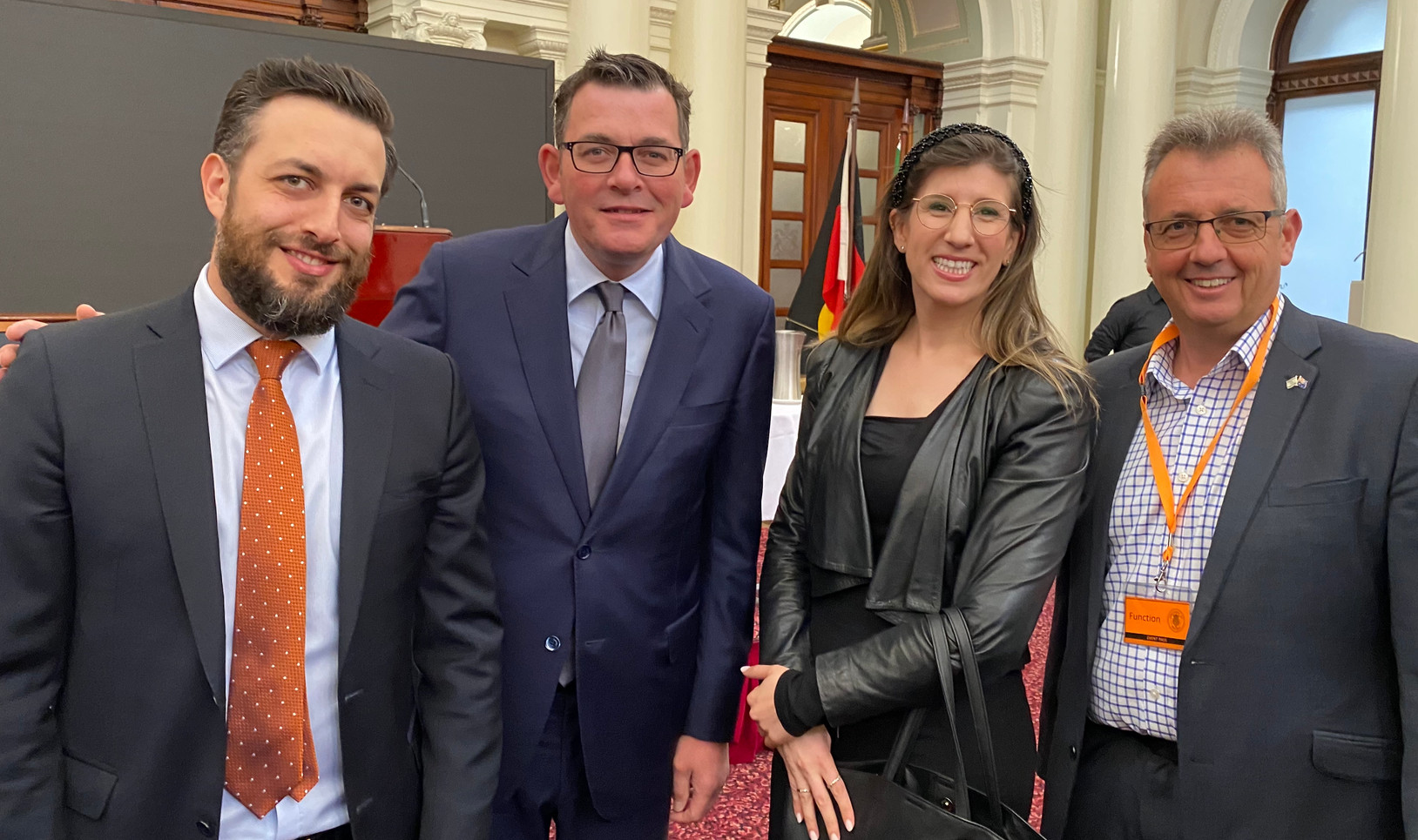 Invest Victoria's- Brad Gofman, Victoria Premier The Hon Daniel Andrews MP, IACC- Miriam Syber- Israel Biomedical Director & Paul Israel