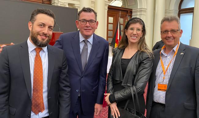 Invest Victoria's- Brad Gofman, Victoria Premier The Hon Daniel Andrews MP, IACC- Miriam Syber- Israel Biomedical Director & Paul Israel