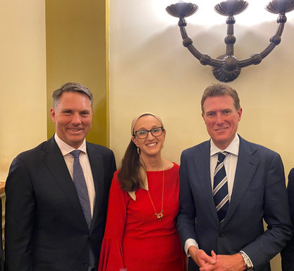 Richard Marles MP- ALP, Janet Goodvach- IACC & The Hon Christian Porter MP, Attorney General & Minister for Industrial Relations