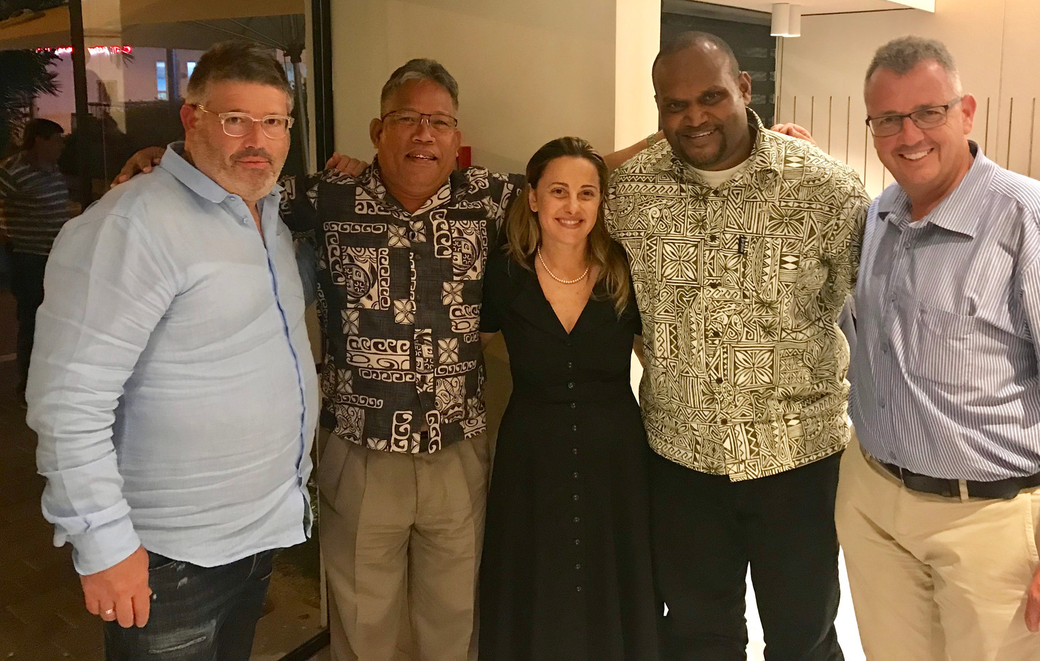 Ran Rahav, Hon Consul Marshall Islands with Pacific Island journalists, Livia Link - Ministry of Foreign Affairs & Paul Israel - IACC
