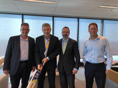 IACC- Paul Israel, Ido Nehushtan, The Hon Martin Pakula MP, Victorian Minister for Jobs, Innovation & Trade, Minister for Tourism, Sports & Major Events and Marcus Mandie, CEO- AICC (VIC)