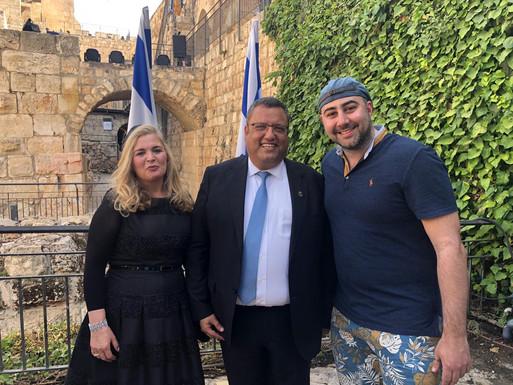 Stavit & Moshe Leon, Mayor of Jerusalem with Dr Carlo Bellini- HIP Consulting