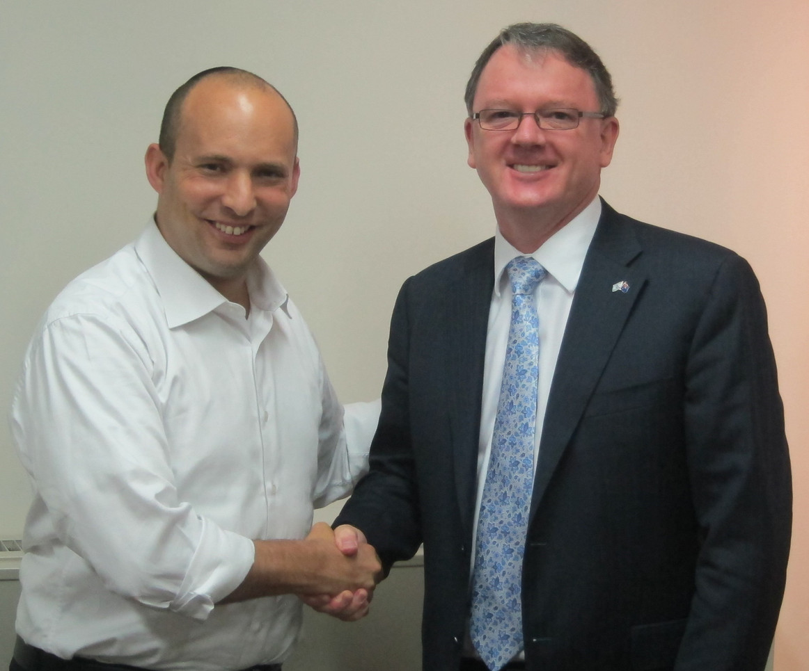 Minister Naftali Bennett with Woodside's CEO- Peter Coleman