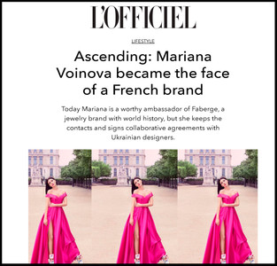 Ascending: Mariana Voinova became the face of a French brand