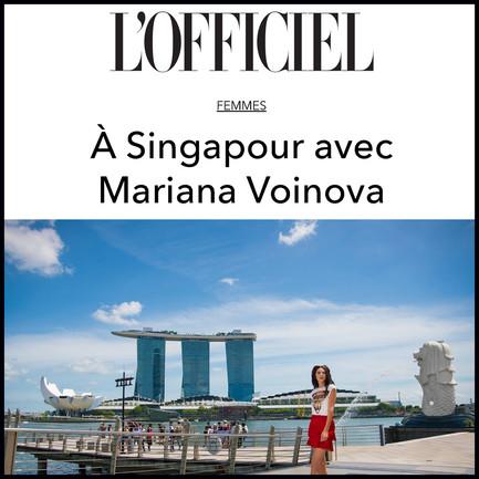 In Singapore with Mariana Voinova