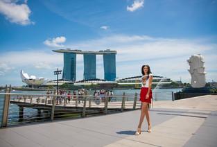 В Сингапуре с Марьяной Воиновой