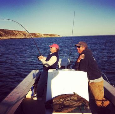 Fishing off Cuttyhunk