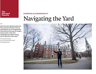 "Coverage of the ""navigation exercise"" carried out in Prof. Goodman's on-campus Harvard GenEd 1112 course on the Past and Present of the Future."
